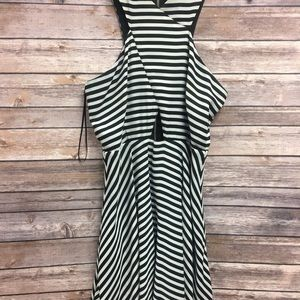 Giani Bini Black and White Striped Dress Small
